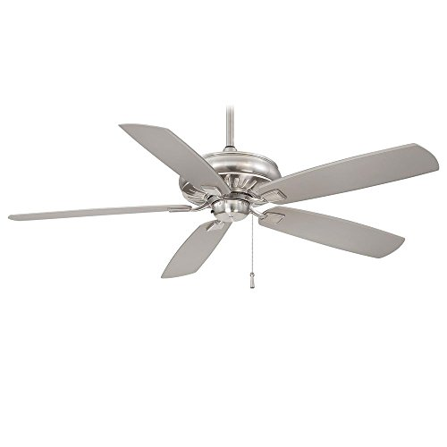 Minka Aire F532-BNW Sunseeker - 60 Inch Outdoor Ceiling Fan, Brushed Nickel Finish with Silver Blade Finish