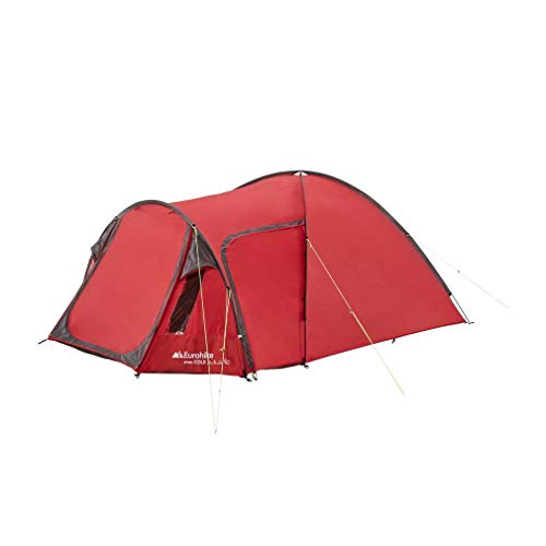 Eurohike Cairns 3 DLX Nightfall 3 Perosn Dome Tent, Red, One Size
