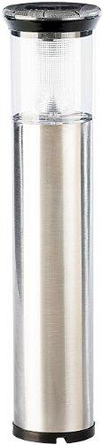 Lunartec LED Gartenlampe: Edelstahl-Solar-Wegeleuchte Leuchtturm mit Dämmerungssensor, IP44 (Gartenlampe mit Dämmerungssensor)