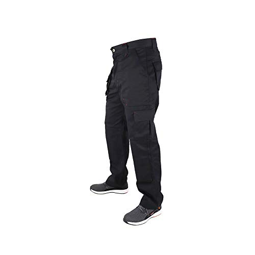 Lee Cooper Men's Cargo Trouser – schwarz -30W/29S - 2