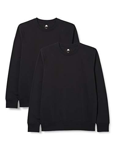 HIKARO HIK0025AM Sweatshirts, Schwarz (schwarz), 42, 2er-Pack