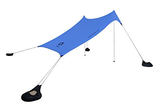 Neso Tents Grande Beach Tent, 2.1 m(7ft) Tall, 2.8m(9ft) x 2.8m(9ft), Reinforced Corners and Cooler Pocket(Periwinkle Blue)