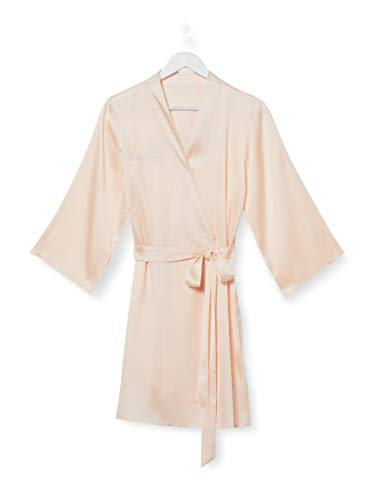 Iris & Lilly Bata Kimono de Algodón Mujer, Rosa (rosa dama de honor), L, Label: L