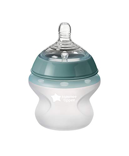 Tommee Tippee Closer to Nature Soft Feel Silicone Baby Bottle | Breast-Like Nipple, Anti-Colic, Stain