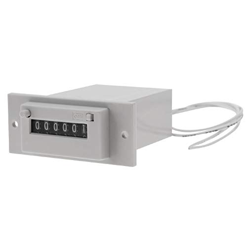 Elektromagnetische teller, AC110V / DC24V CSK6-YKW 6-cijferige teller voor elektromagnetische impulsen # 03 DC 24 V.