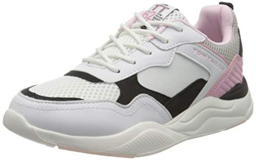 TOM TAILOR Mädchen 8070702 Sneaker, Mehrfarbig (White-Black-Rose 02693), 39 EU