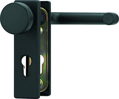Beschlag für Feuerschutztüren Farbe Tiefschwarz matt Hoppe ABUS BKS (Wechsel-Garnitur eckig)