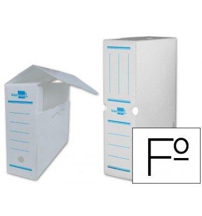 Liderpapel - Caja archivo definitivo plastico blanco tamaño 36x26x10 cm (5 unidades)
