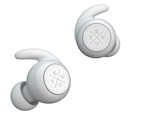 Kygo Life E7/900 | Bluetooth Earbuds with Charging Case, IPX7 Waterproof Rating, Built-in Microphone, Autopairing with Comply Foam Tips (White)