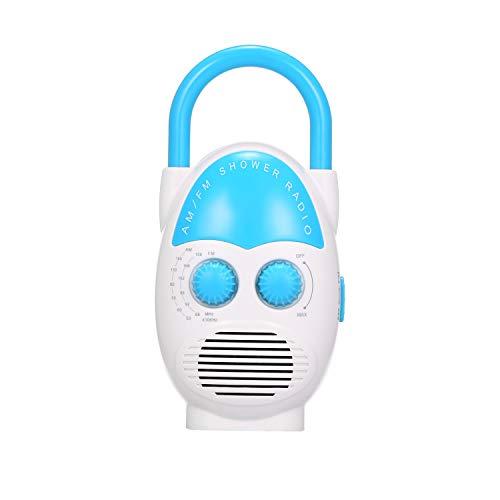 Mini AM/FM Duschradio Badezimmer Wasserdichtes Radio Hängendes Musikradio Eingebauter Lautsprecher