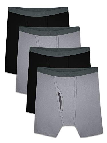 Fruit of the Loom Men's Premium COOLZONE Boxer Briefs, black/Gray (4 Pack), X-Large