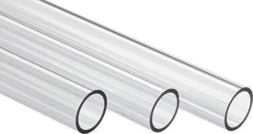 Corsair Hydro X Series, XT Hardline 12 mm Tubos (Tubos Rectos, Transparentes de PMMA, Diseño Resistente para Refrigeración Personalizada, Fáciles de Cortar) Transparente