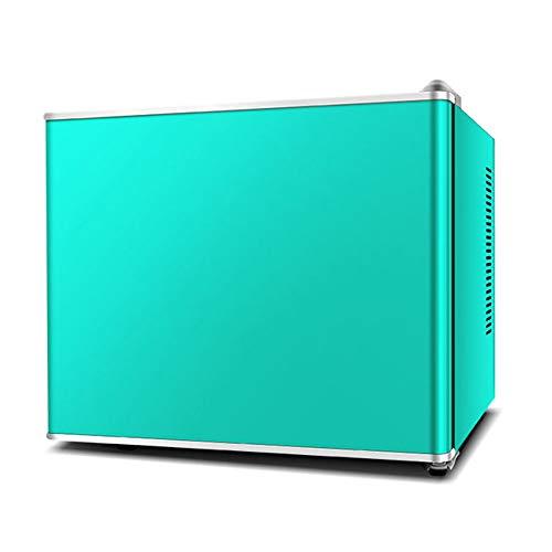 Mini-koelkast met een deur, voor slaapkamer, kantoor of slaapkamer, met glazen legplank en verstelbare voeten, compact, wijnkoeler, rood