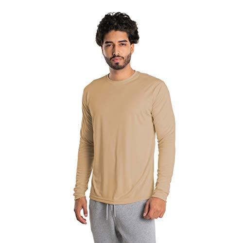 Vapor Apparel Herren Atmungsaktives UPF 50+ UV Sonnenschutz Langarm Funktions T-Shirt XX-L Tan