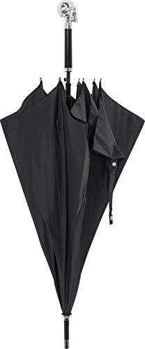 Kare Skull Regenschirm, 94 cm, Schwarz