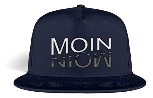 In Hamburg sacht Man Moin Moin Basecap mit Spruch Bestickt lustig Kappe Snapback - Kappe -OneSize-Oxford Navy