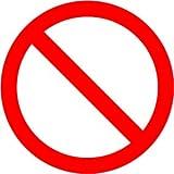 Señalizacion covid 19 | 10 unidades | 15 x 15 cm | Señal de prohibición - Prohibido estacionarse | Pegatinas covid 19 | Adhesivo para interiores | Rojo