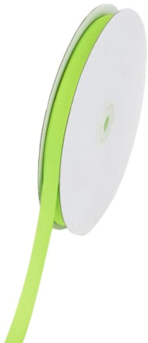 Creative Ideas Solid 3/8-Inch Grosgrain Ribbon, 50-Yard, Neon Green
