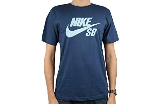 NIKE SB Logo tee 821946-458 Camiseta, Azul (Navy 821946/458