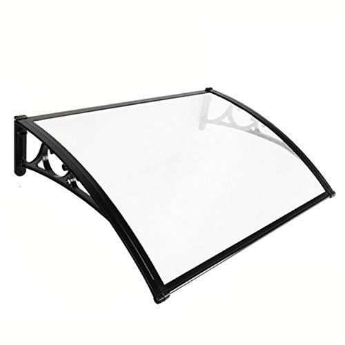 LIQICAI Marquesina Protectora para Puerta O Ventana Toldo para Terrazas Marquesina Canopy Ajuste Fácil Soportes De Aleación De Aluminio, Fácil De Instalar (Color : Claro, Size : 120cmx120cm)