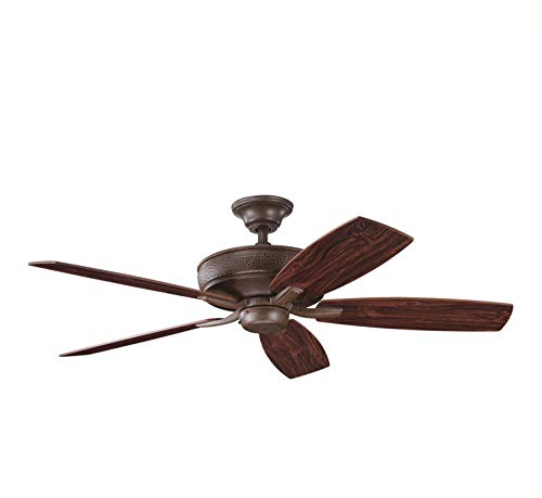 """Kichler 339013TZ, Monarch II Tannery Bronze Energy Star 52"""" Ceiling Fan with Remote Control"""