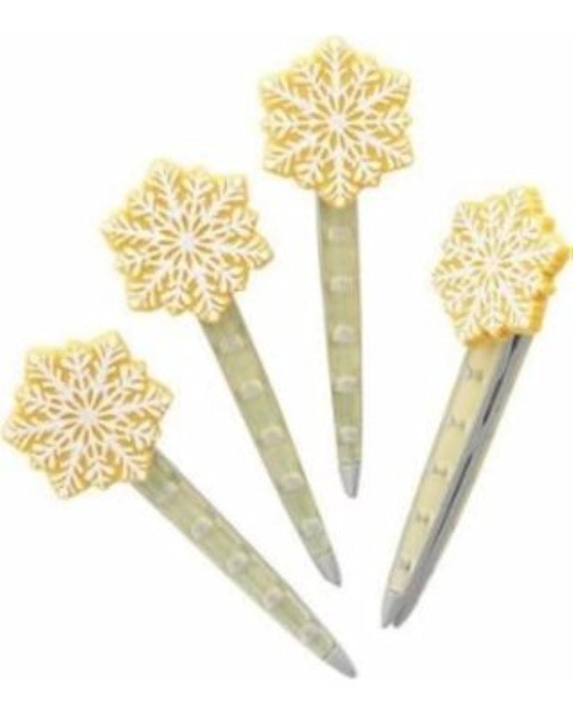 時計回り防水シェトランド諸島Yankee CandleクリスマスクッキーVent Sticks Set of 4