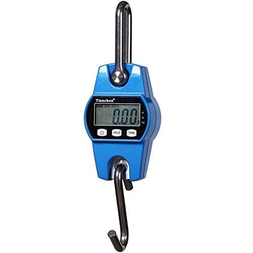 Mini báscula electrónica portátil para colgar pesos, báscula electrónica digital de 600 libras con Acc, Blue (Azul) - FB-B
