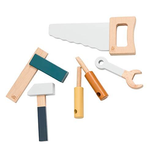 Sebra - Holzwerkzeug Set aus Holz - Jetty Grey