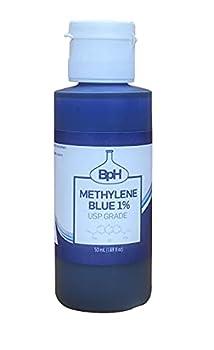 Biopharm Methylene Blue 1% | USP Grade | 50 mL | Easy Dispensing Plastic Bottle | 1 Drop Contains 0.5 mg Methylene Blue | Formaldehyde Free | Antioxidant