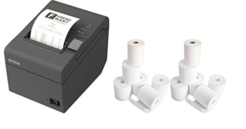 Epson TM-T20II Direct Thermal Printer - Monochrome - Desktop and 12 Rolls of Receipt Paper