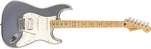 Fender 144522581 Player Series Stratocaster HSS - Diapasón de arce - Plata, Full