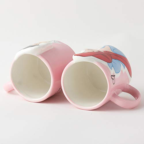 Disney Princess the Little Mermaid Pair Mug Cup Kiss Ariel