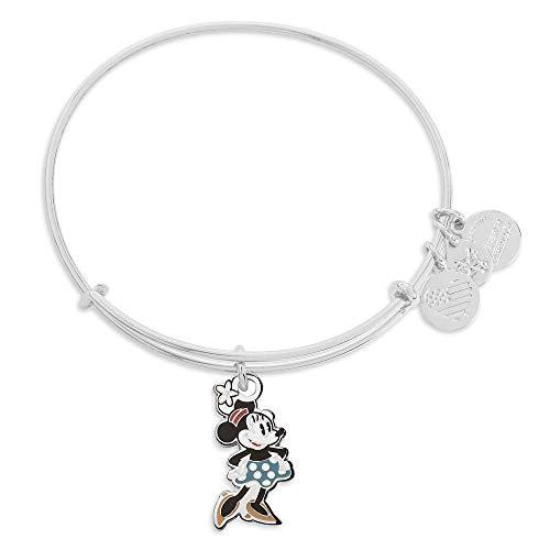 Alex and Ani Disney Parks Alex and ANI Classic Mickey Minnie Bangle Bracelet - Jewelry Gift (Minnie)