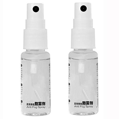 Diantai 2 unidades de espray antivaho de 20 ml para cristales de gafas, limpiador de lentes duradero antivaho, producto de cuidado para espejos y ventanas