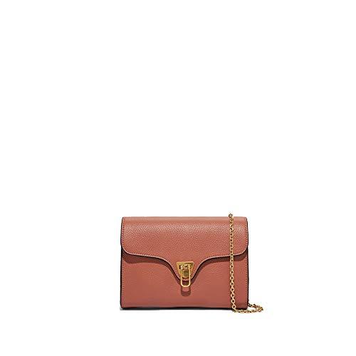 Coccinelle Borsa a Tracolla Pochette Mini Bag in Pelle Rosa Donna 19x14x4 cm