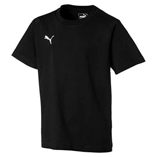 PUMA Liga Casuals T-Shirt Enfant Puma Noir/Puma Blanc FR : Taille Unique (Taille Fabricant : 152)