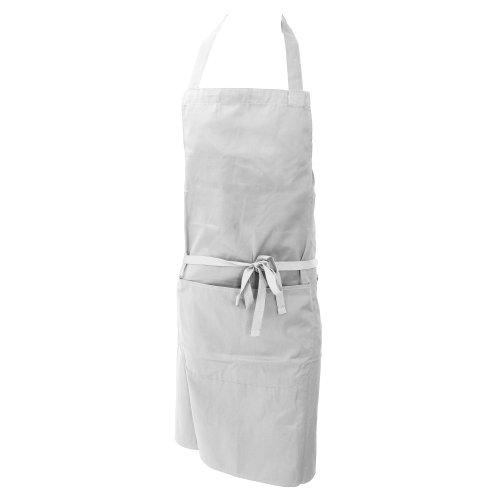 Dennys Damen/Frauen Polycotton Küchenschürze mit Tasche/Küche Arbeitskleidung (Einheitsgröße) (Weiß)