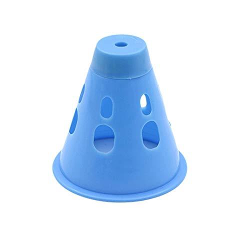 KLOP256 Lámpara Advertencia Tienda 10pcs Noche con Bolsa Mini Camping al Aire Libre PE Portátil Anti ída 7 Colores Impermeable Campamento Uñas Senderismo Funciona con Pilas Sólido(Azul)