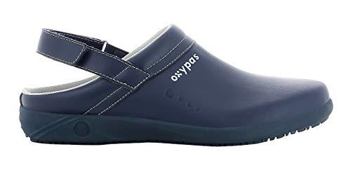 Oxypas Remy Unisex Arbeits- und Sicherheitsschuhe   Clogs, Farbe: Marine, Größe: 43