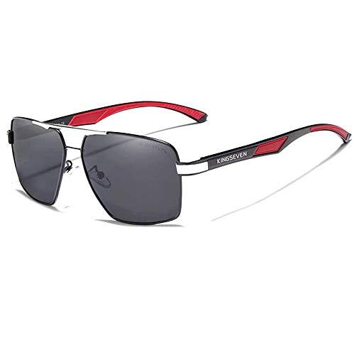 Óculos de Sol Masculino Quadrado Estilo Piloto Kingseven Polarizados K-7719 (C2)
