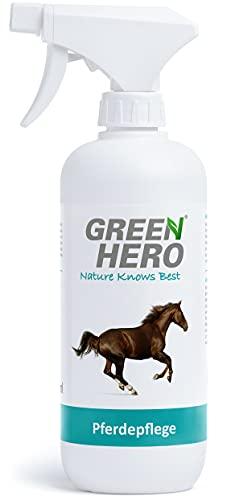 Green Hero Pferdepflege Pflegt die Haut und unterstützt den Regenerationsprozess bei Sommerekzemen Räude Juckreiz Milben Hefepilzen Reizungen für Pferde 500ml