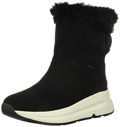 Geox Damen D BACKSIE B ABX C Snow Boot, Black, 41 EU