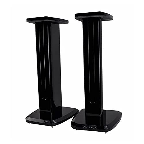 JIE KE Soporte universal para altavoz de piso, un par de soportes para altavoces de estantería pequeña y satélite, estilo de construcción de pintura de piano, fácil de montar