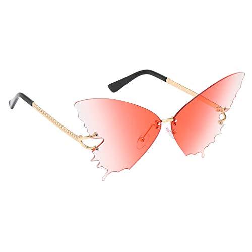 harayaa Gafas de Sol con Forma de Mariposa Gafas de Sol con Lentes de Colores - Rosa Degradado