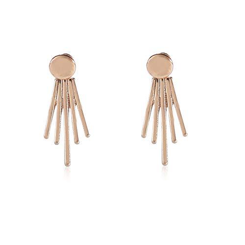 Pendientes de tuerca para mujer, diseño geométrico, de galvanoplastia y brillante, personalizables, de lado a lado, para colgar en la oreja