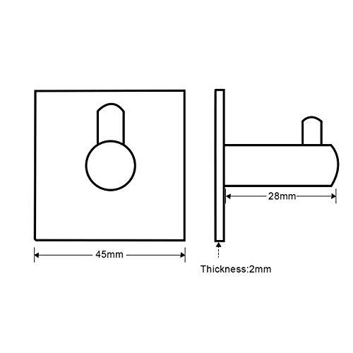 Frap 4 Stk. Wandhaken Handtuchhaken Ohne Bohren, 304 Edelstahl Rostfrei Selbstklebend Bad und Küche Handtuchhalter, Schwarz. 2