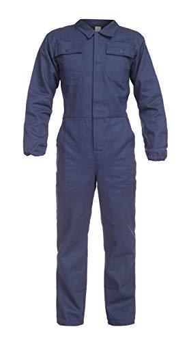 DINOZAVR Anax Herren Baumwolle Arbeitsoverall Schutzanzug mit vielen Taschen - Hydronblau 3XL