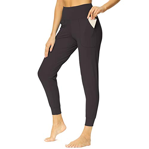 Mesily Sweatpant Joggers Pants for Women with Pockets - High Waist Workout Yoga Womens Crop Lounge Pants Tapered Sweat Pants for Running Workout