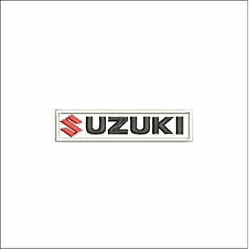 coche Parche Suzuki logotipo de 7,5/x 5/cm parche bordado moto V3/A -715