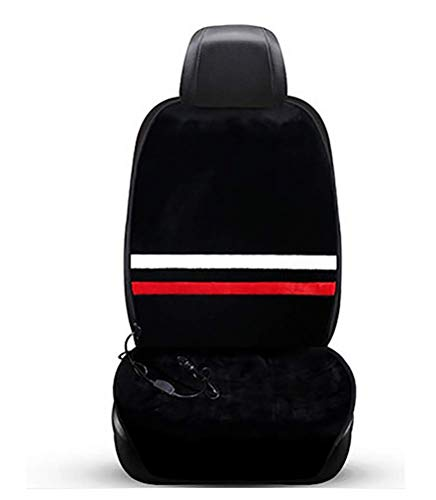 NQCT Siège Auto Chauffant Cusion Universel Chauffant Chauffant de siège de Voiture Chauffant Chauffant de Coussin Chauffant Chauffant Haut/Bas / 12V,Black